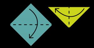 Paper crane origami guide