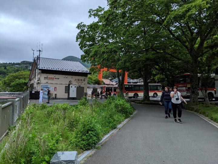 Hakone bus station, Japan