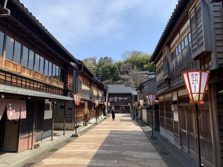 The Higashi Chaya-gai tea district in Kanazawa