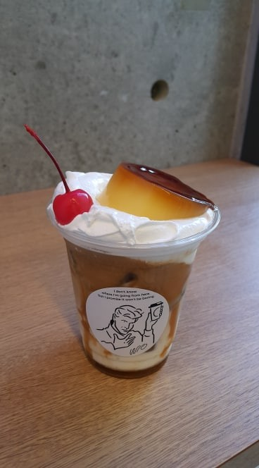 Japan Instagram coffee shop, Without stand – Fukuoka, Japanese pudding milkshake