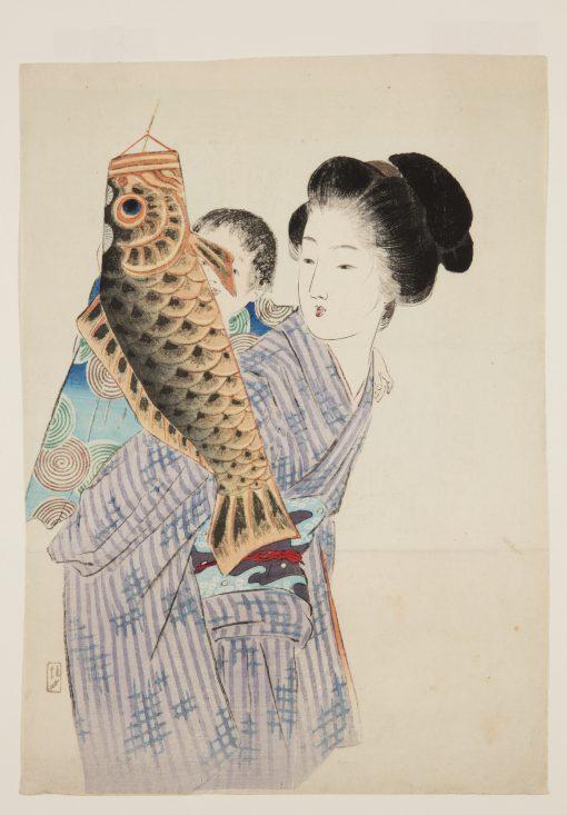 Takeuchi Keishu (1861-1943), Carp streamer (koinobori), 1908