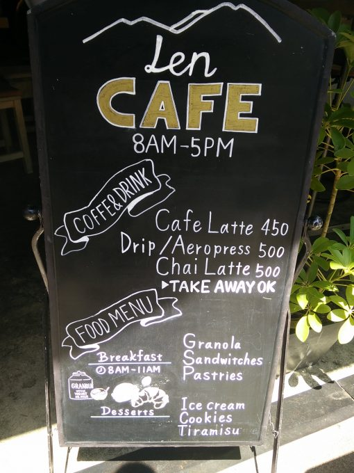 Sustainable Japan: Coffee shop sign