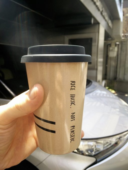 Going plastic free in Japan with a rice husk coffee cup