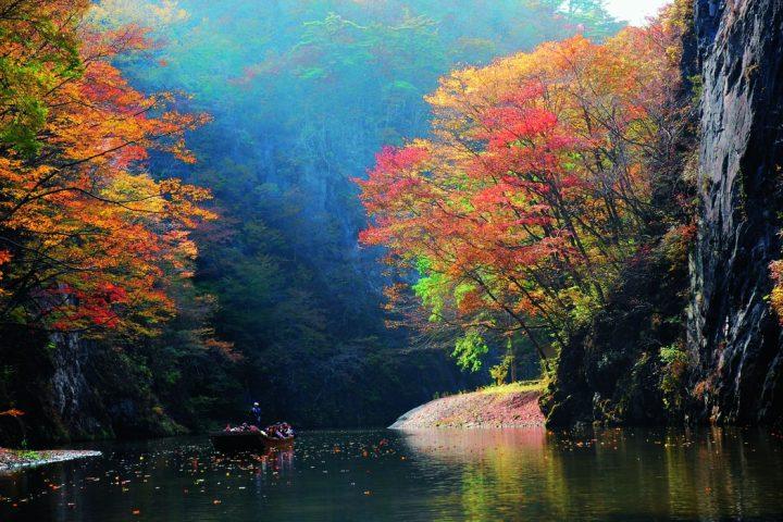 Hiraizumi autumn in japan