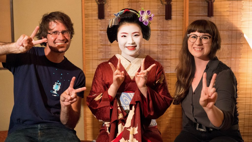 In Japan with Geisha