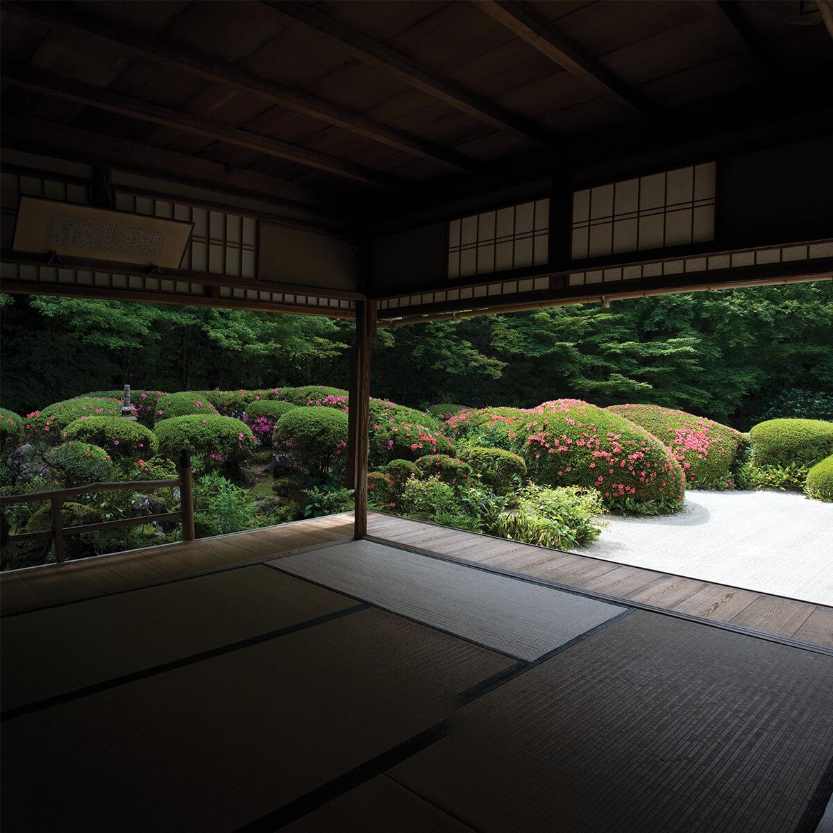 "Shisendo karesansui (dry gravel ""Zen"") garden Kyoto"