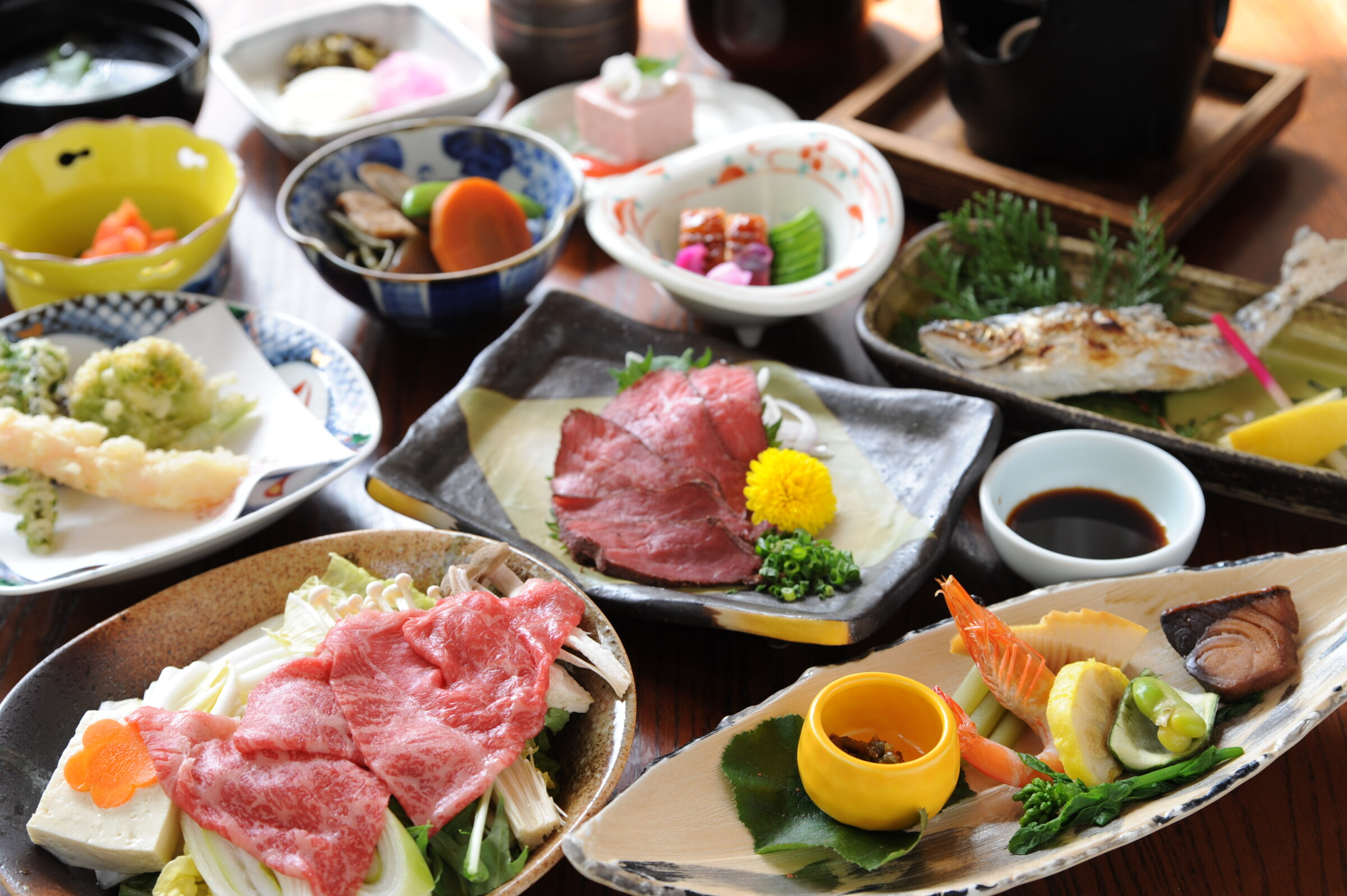 A kaiseki meal from the Japanese countryside