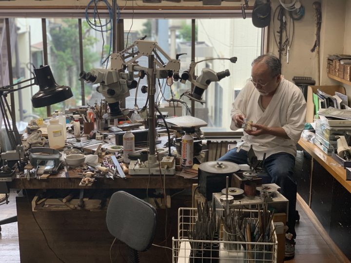 Yoshihara-san in his studio