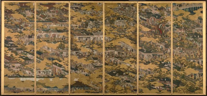 An example of Rakuchu Rakugai Zu