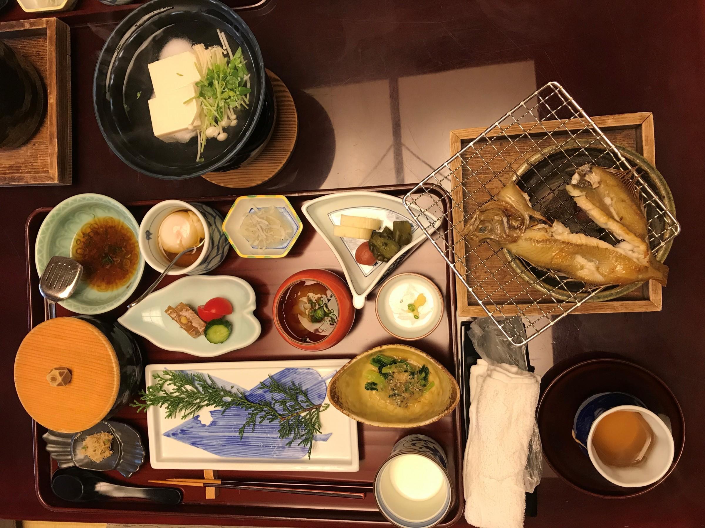Kaiseki in Kinosaki