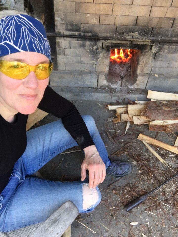 Firing the wood