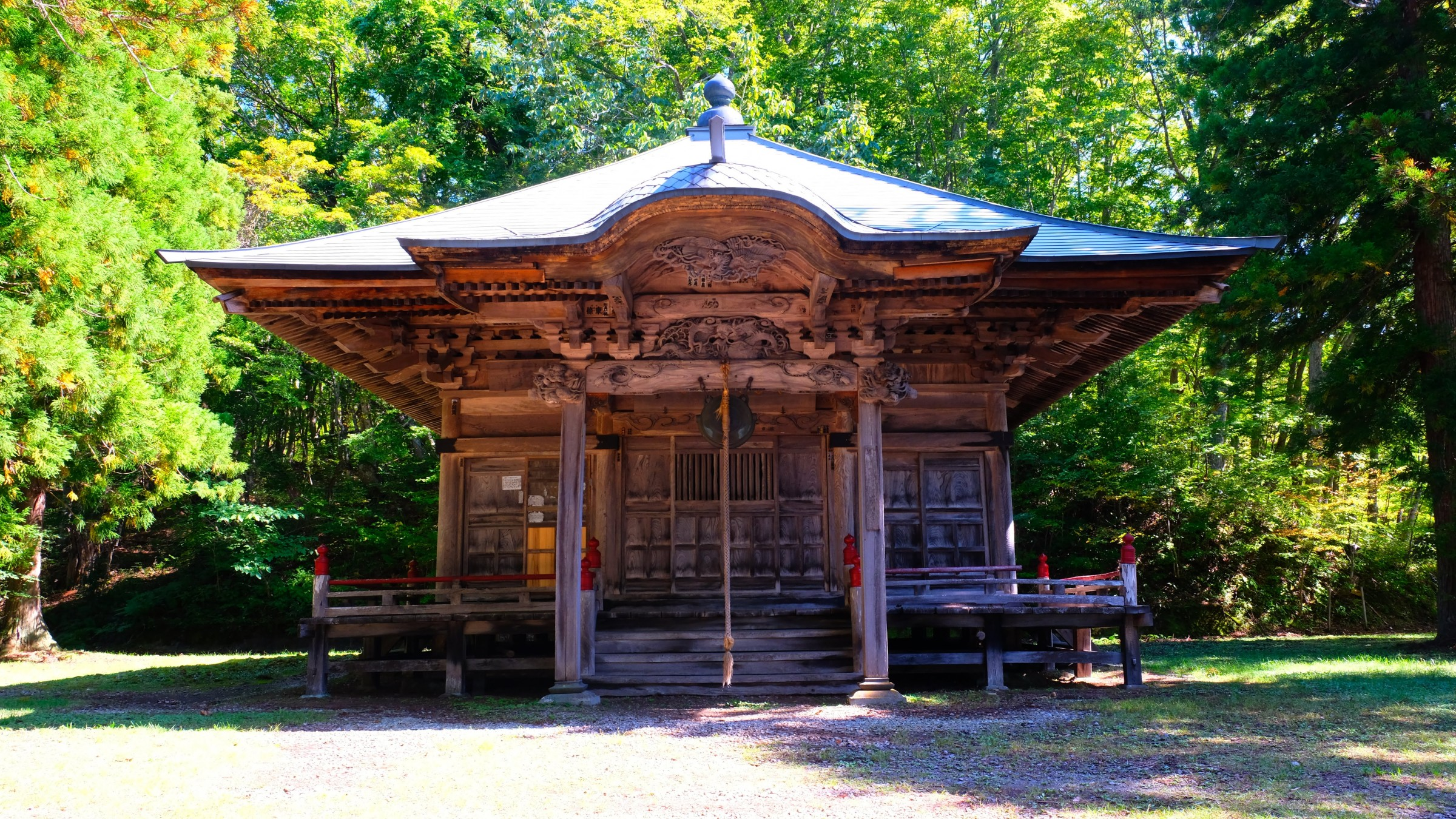 Dake Kannon-do temple, one of the ancient temples on the Aizu Buddhist pilgrimage