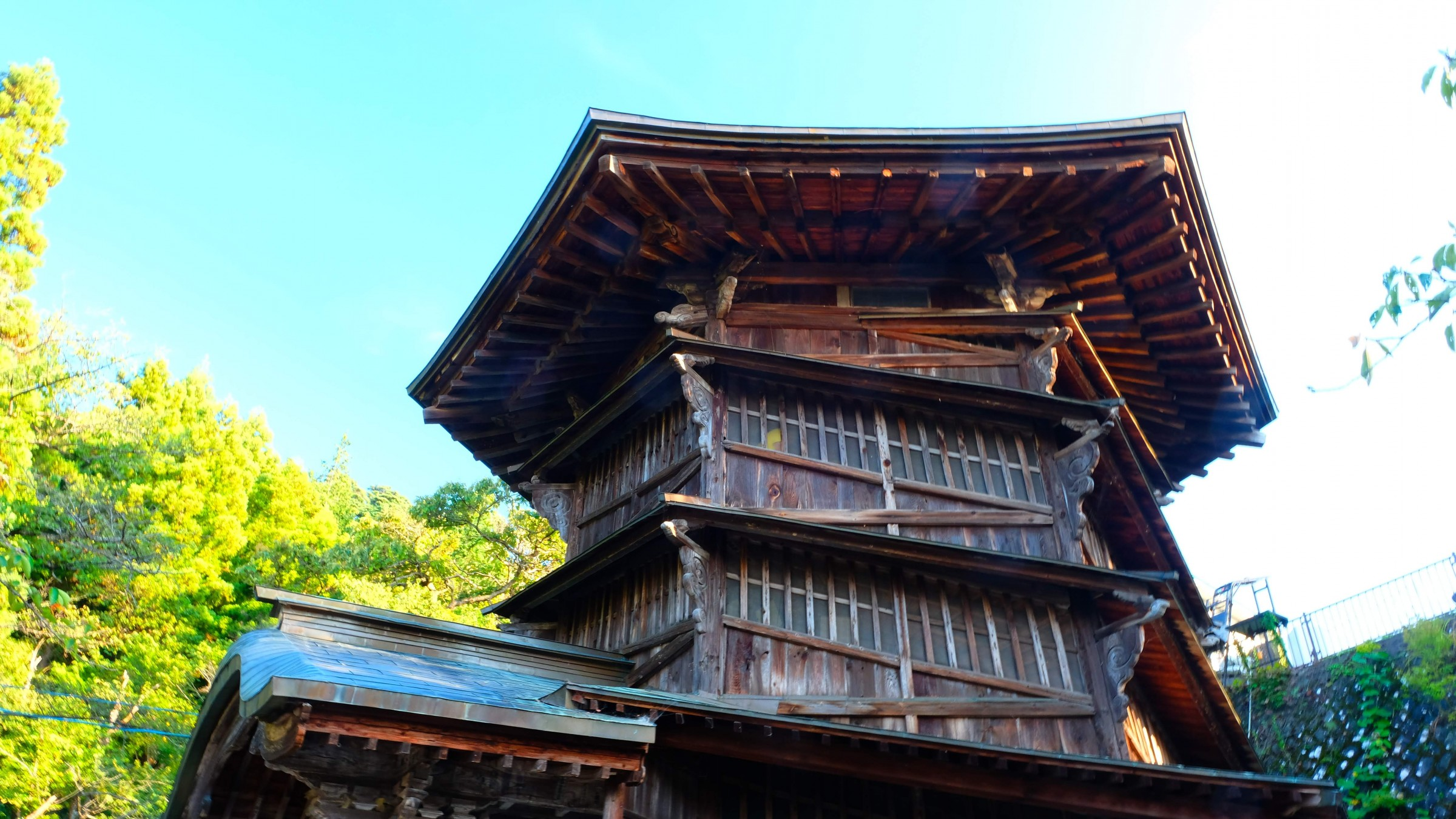 Sazaedo Temple, a Buddhist temple famous for its unusual double spiral structure