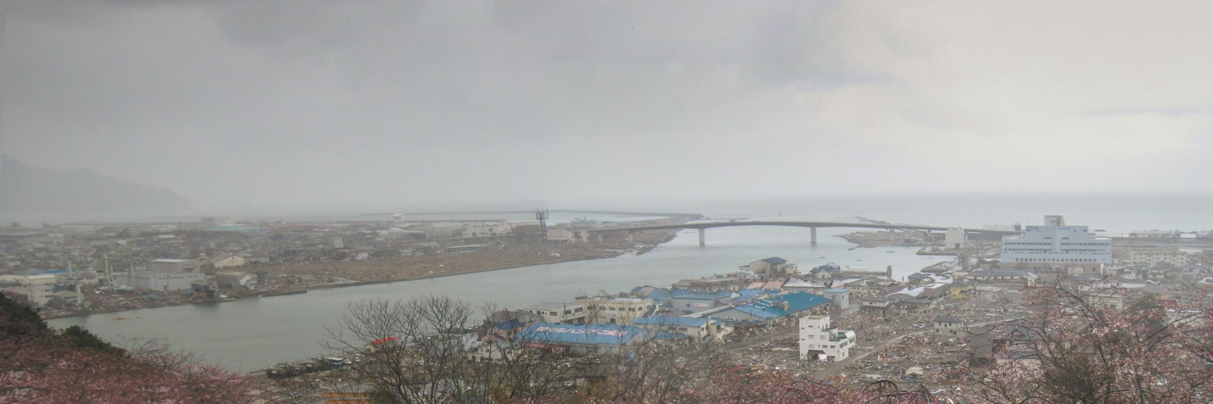 Ishinomaki lies desolated after the earthquake and tsunami of 2011
