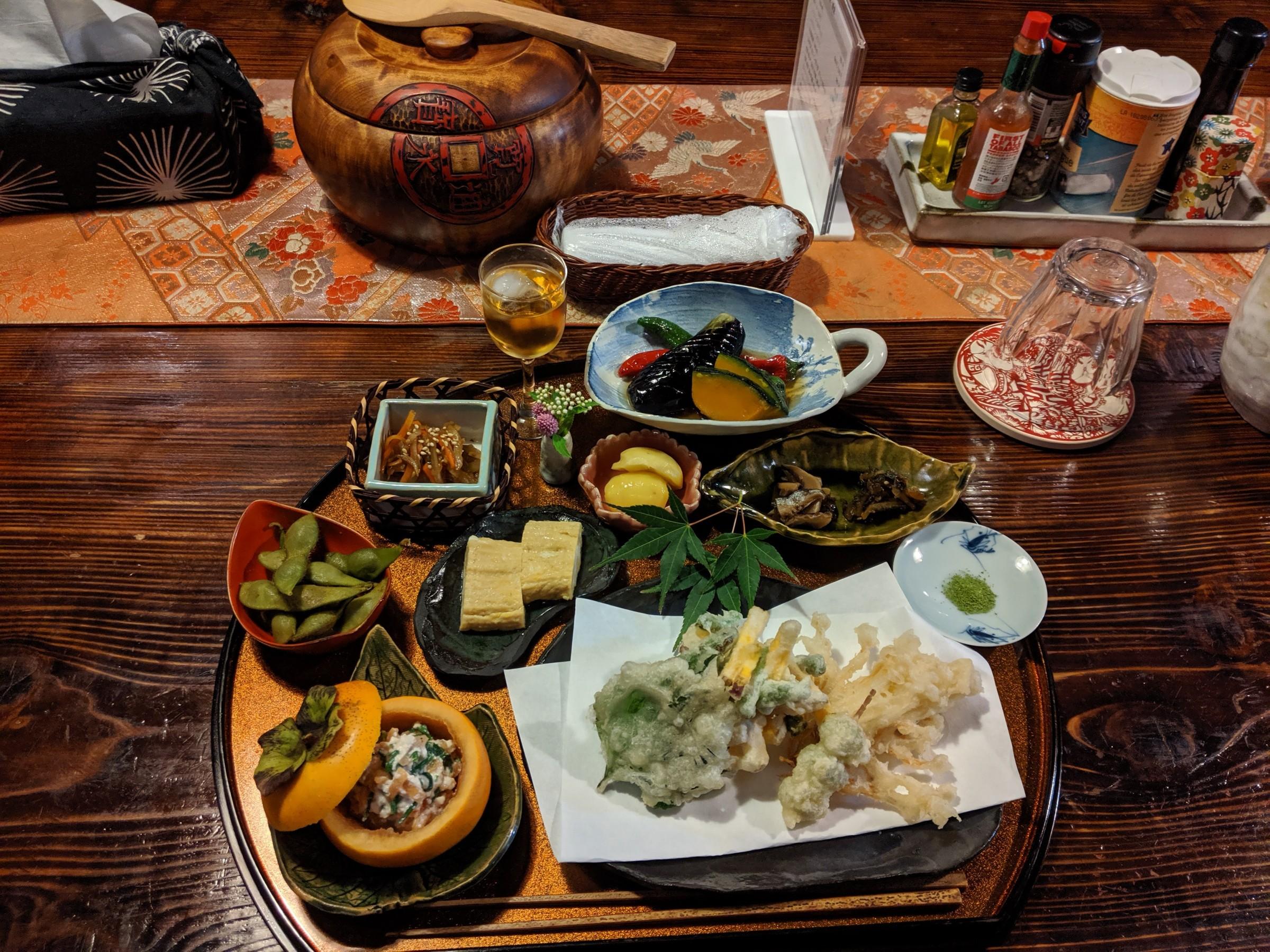 Delicious Japanese food at the Furumaya House ryokan