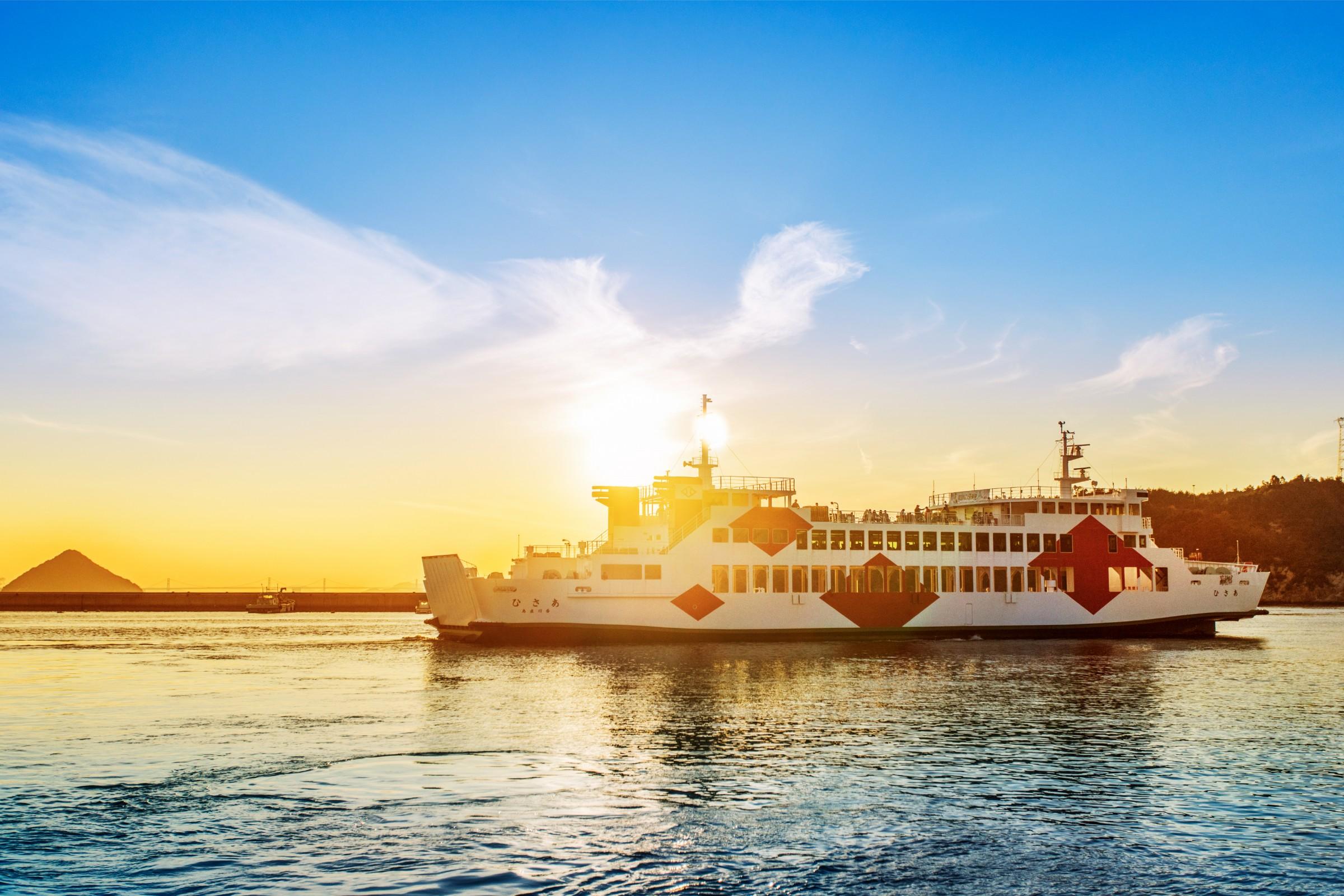 A ferry to Naoshima Art Island
