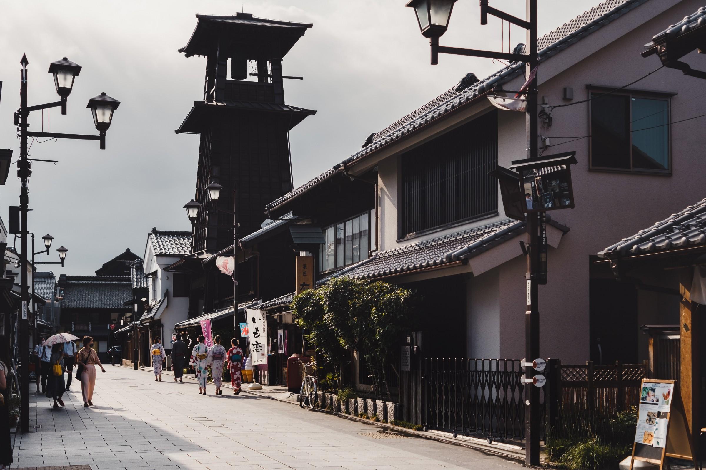 Toki no Kae bell tower in Kawagoe
