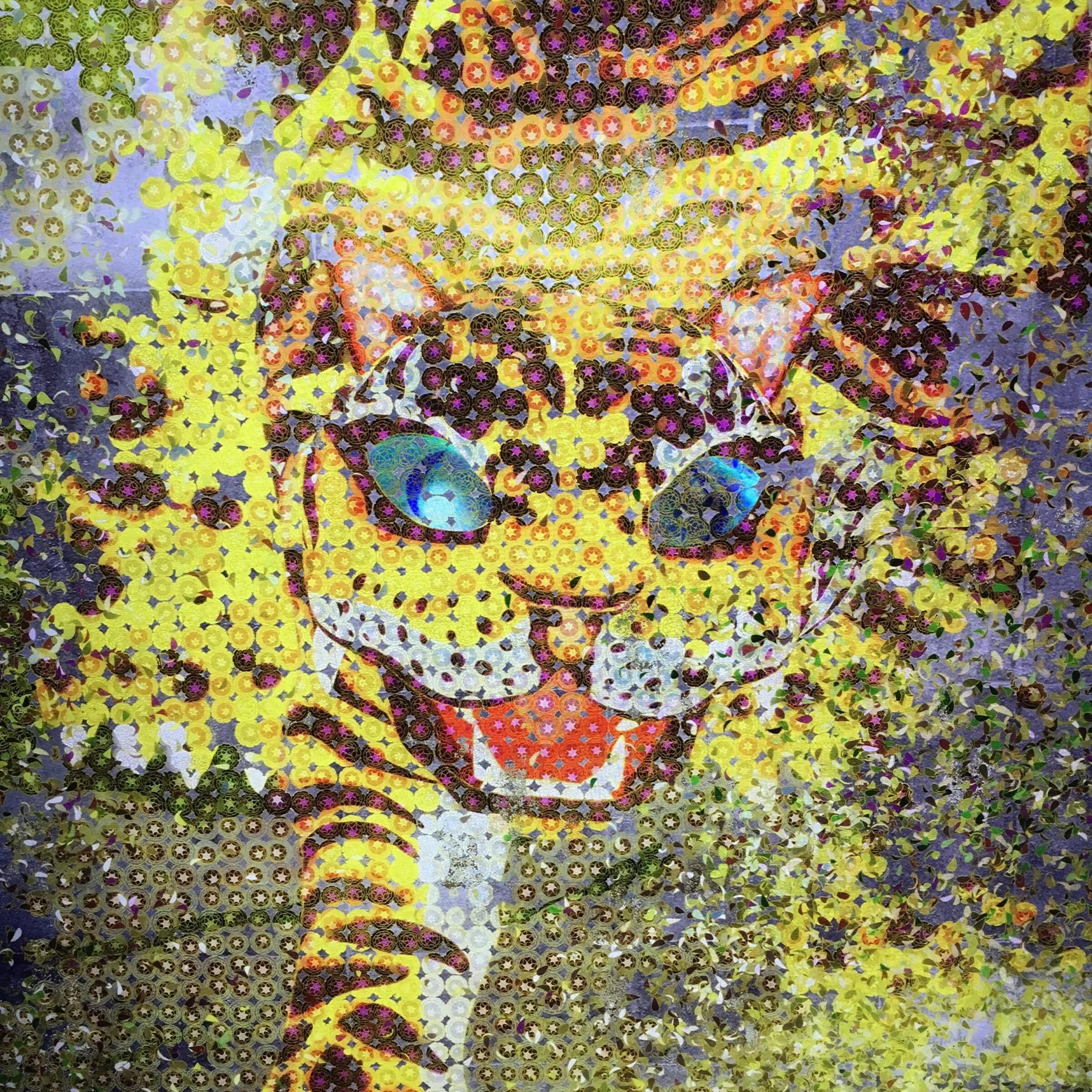 teamLab Chrysanthemum Tiger
