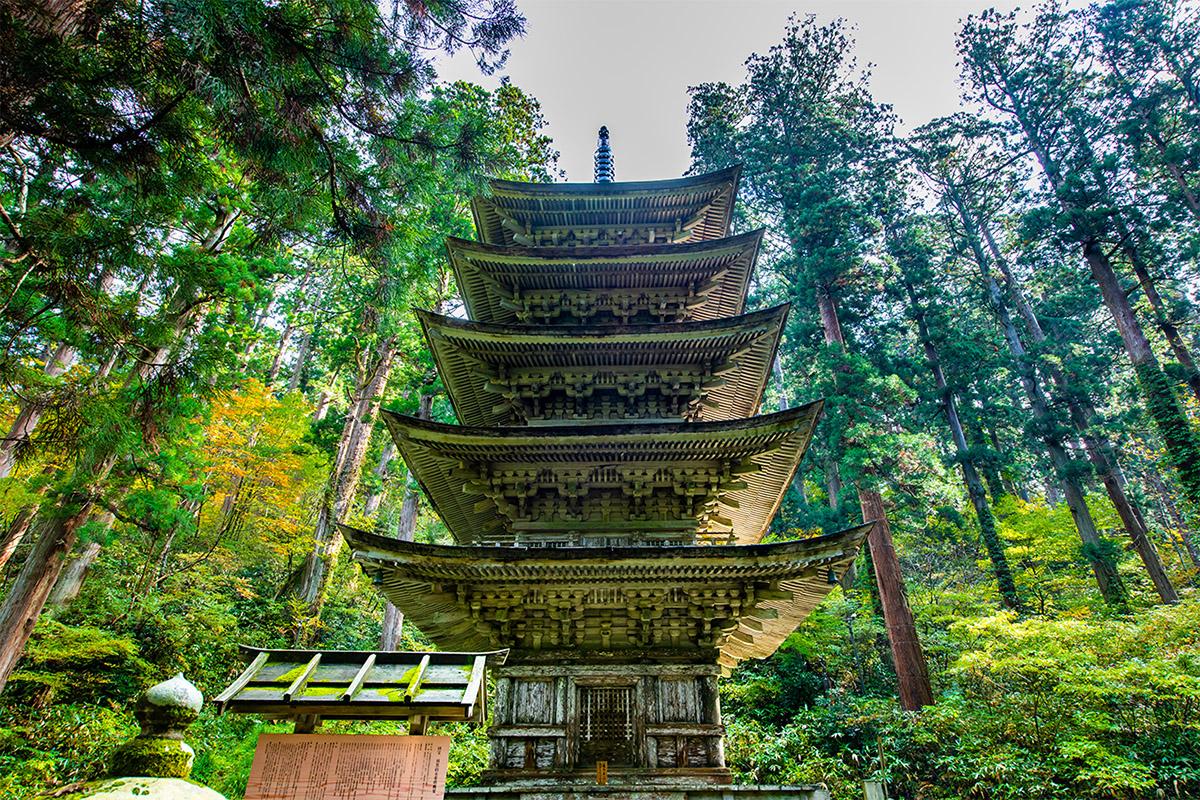 The Goju-to pagoda at Mount Haguro